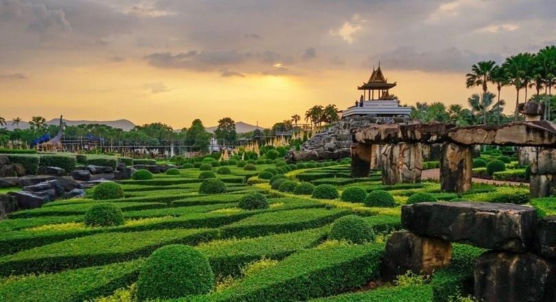Тропический сад - парк в Паттайе